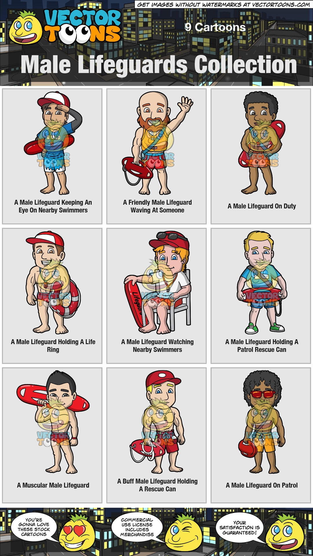 Male Lifeguards Collection