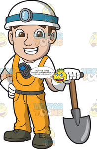 A Delighted Male Miner At Work