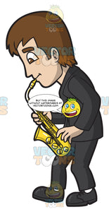 A Man Playing A Saxophone