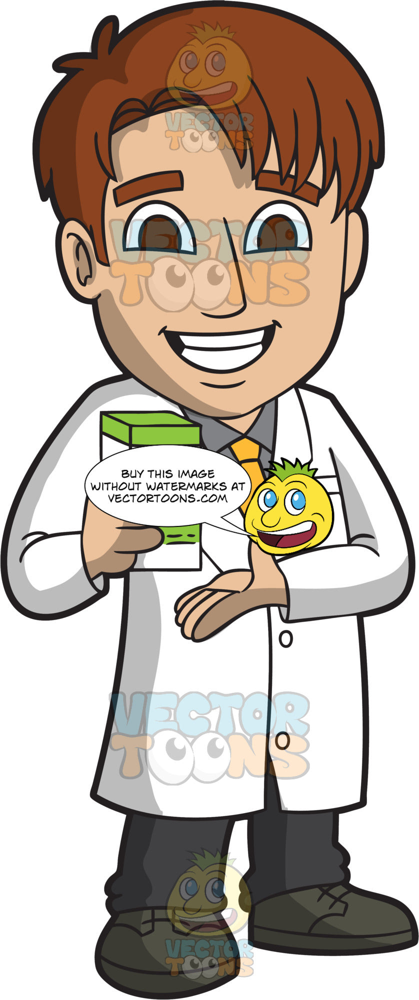 A Happy Male Pharmacist Clipart Cartoons By Vectortoons