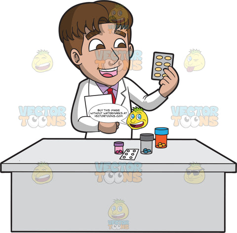 A Cheerful Male Pharmacist