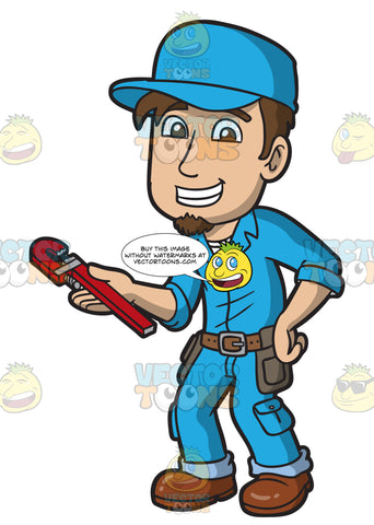 A Happy Male Plumber