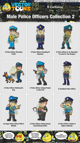 Male Police Officers Collection 2