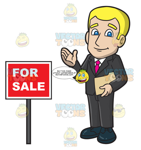 A Male Real Estate Agent Looking Optimistic To Sell A House