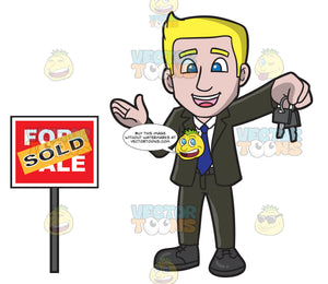 A Male Real Estate Agent Closing A Deal To Sell A House