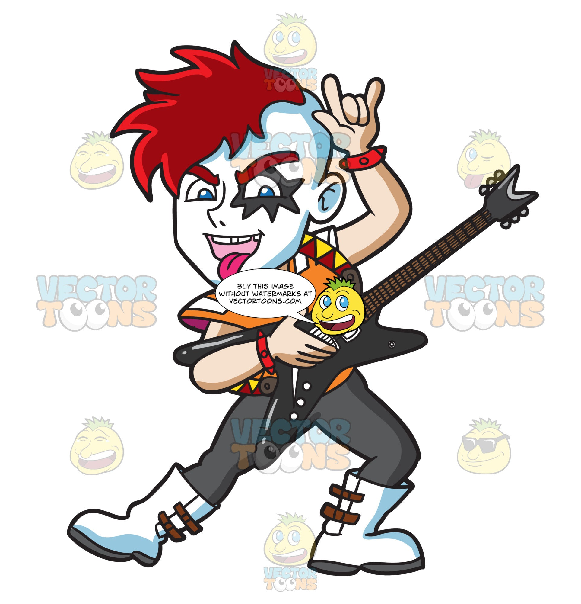 A Glam Rock Guitarist