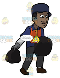 A Black Male Sanitation Worker