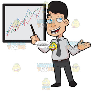 A Stockbroker Showing A Trade Chart