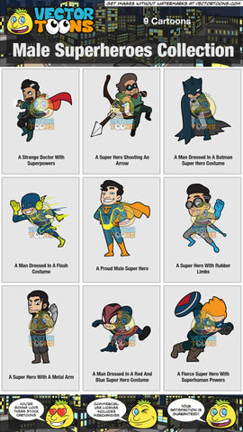 Male Superheroes Collection