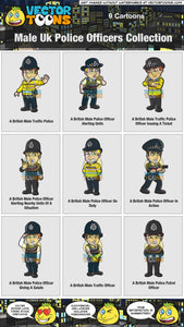 Male Uk Police Officers Collection