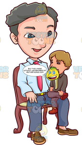 A Happy Male Ventriloquist