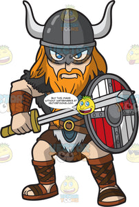 An Angry Male Viking Ready To Fight