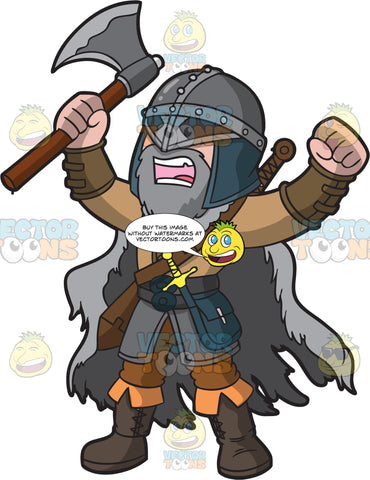 A Yelling Male Viking