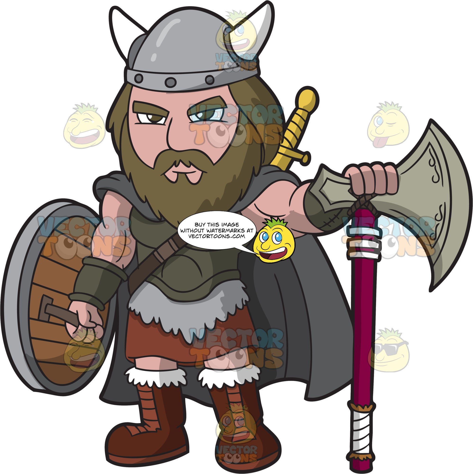 A Male Viking Ready For Battle
