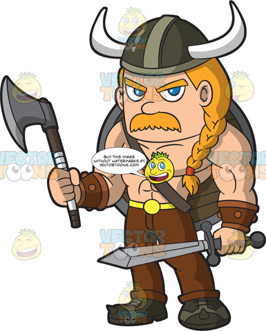 A Muscular Male Viking
