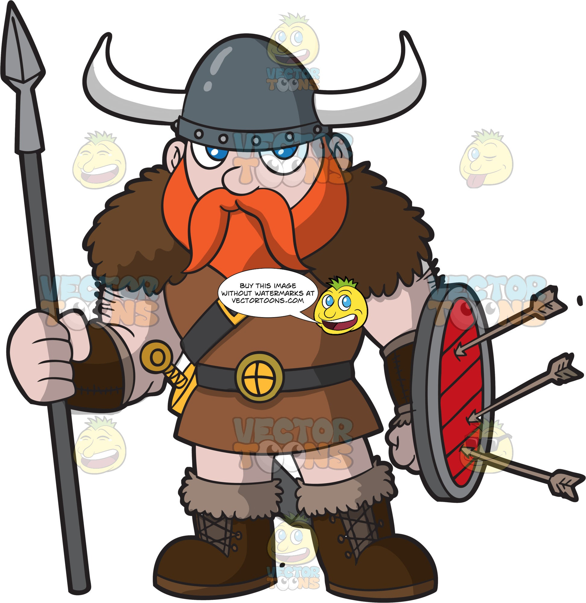 A Strong Male Viking After A Battle