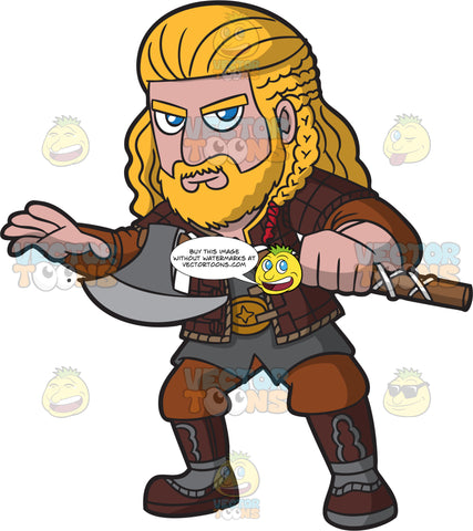 A Noble Male Viking Warrior