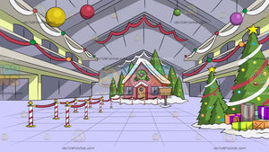 Mall Christmas Display Background