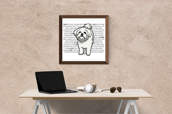 Maltese Dog Printing / Embroidery Designs