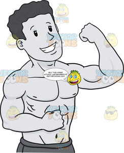 Man Flexing His Arm