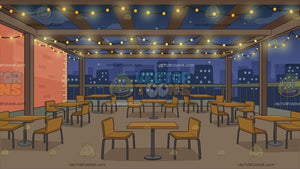 Manhattan Rooftop Restaurant Background