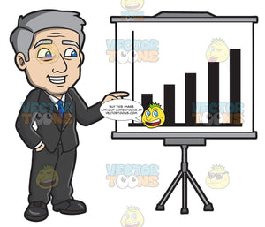 A Mature Businessman Presenting A Chart