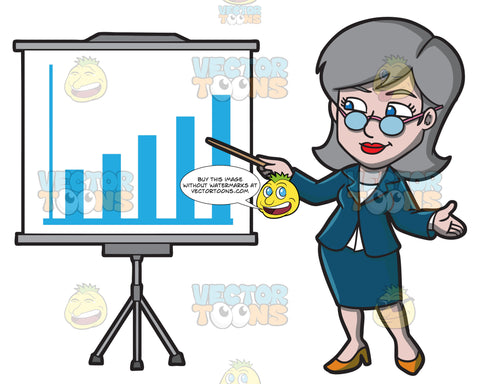 A Mature Businesswoman Presenting A Chart