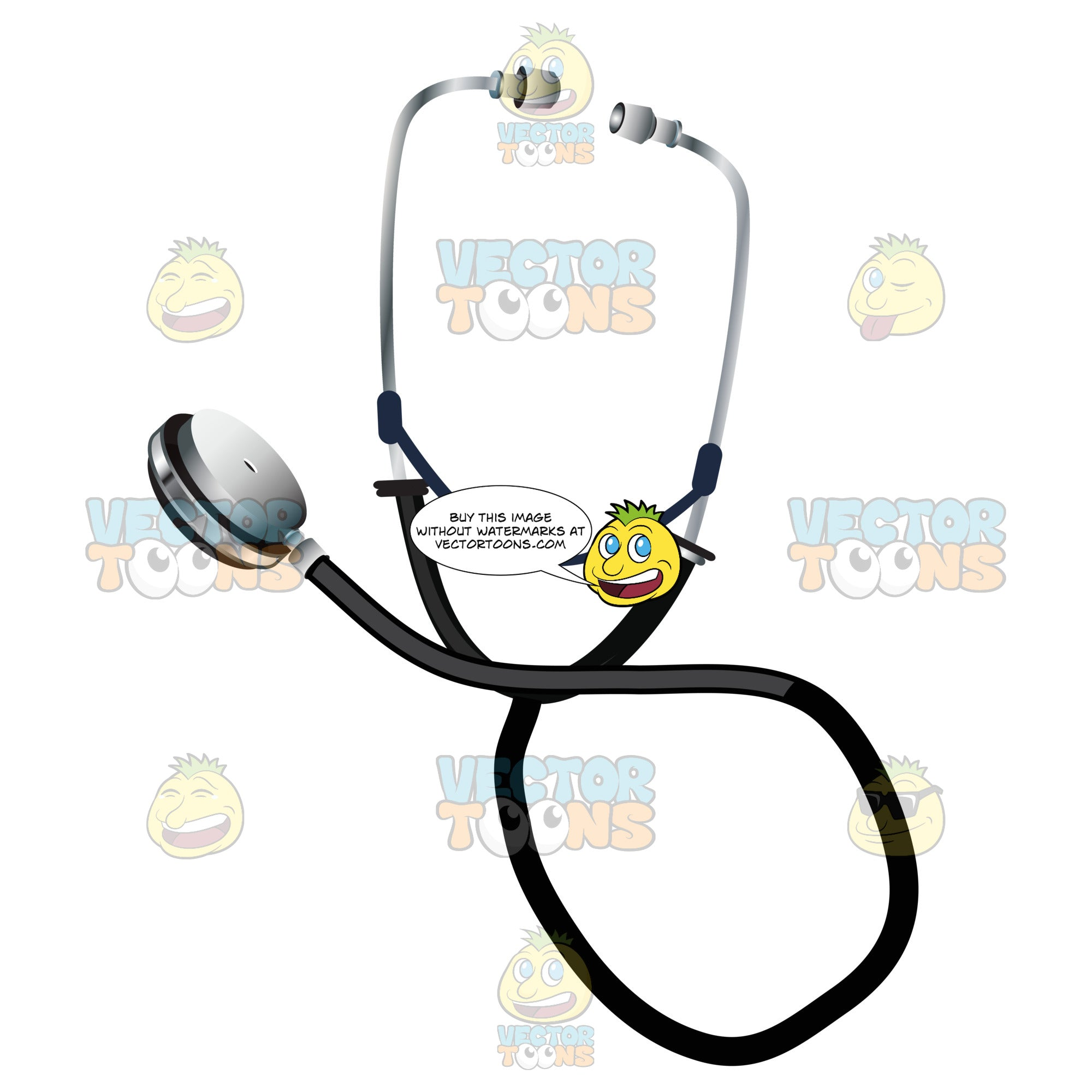 Silver And Black Stethoscope