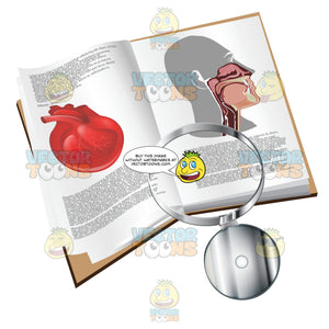 Medical Book With A Head Light
