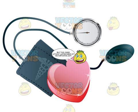 Heart With A Blood Pressure Cuff
