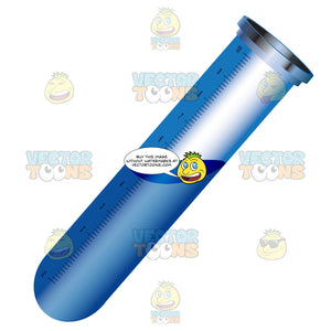 Blue Tube With Liquid Inside