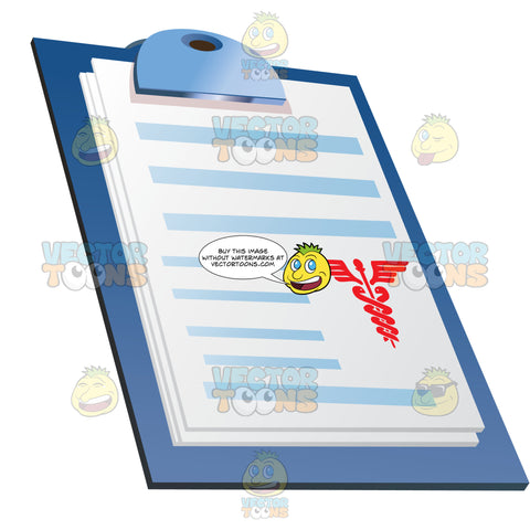 Papers Or Chart On Clipboard