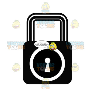 Locked Security Key And Lock Black And White Computer Icon