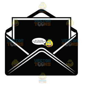 E Mail Letter In Open Envelope