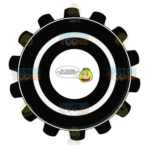 Sprocket Gear Wheel Black And White Computer Icon