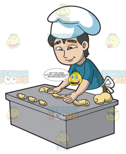 A Man Making Croissants