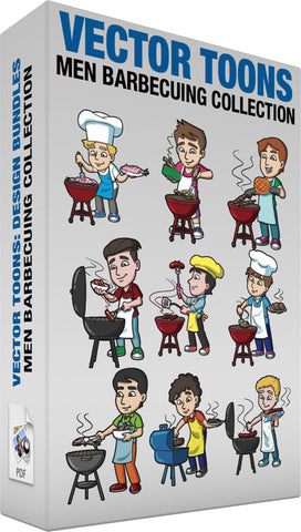 Men Barbecuing Collection