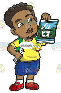 A Black Man Holding A Pack Of Medical Marijuana