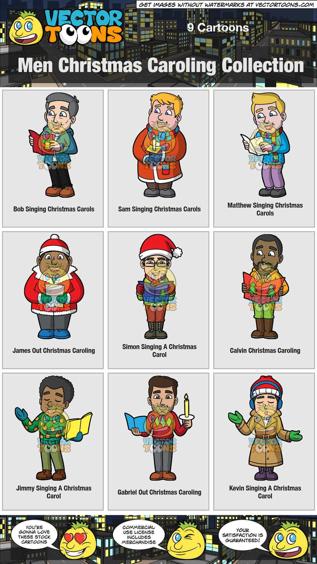 Men Christmas Caroling Collection