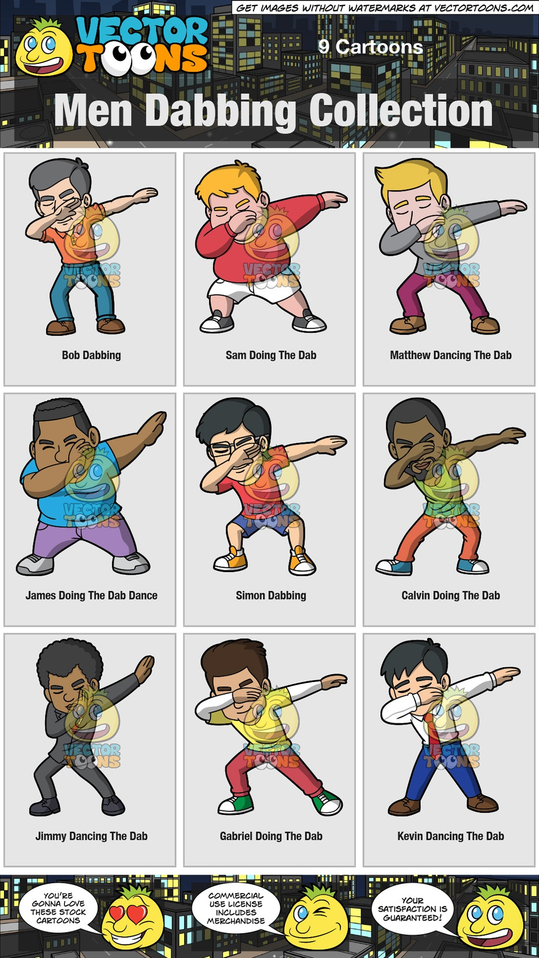 Men Dabbing Collection