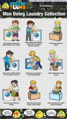 Men Doing Laundry Collection