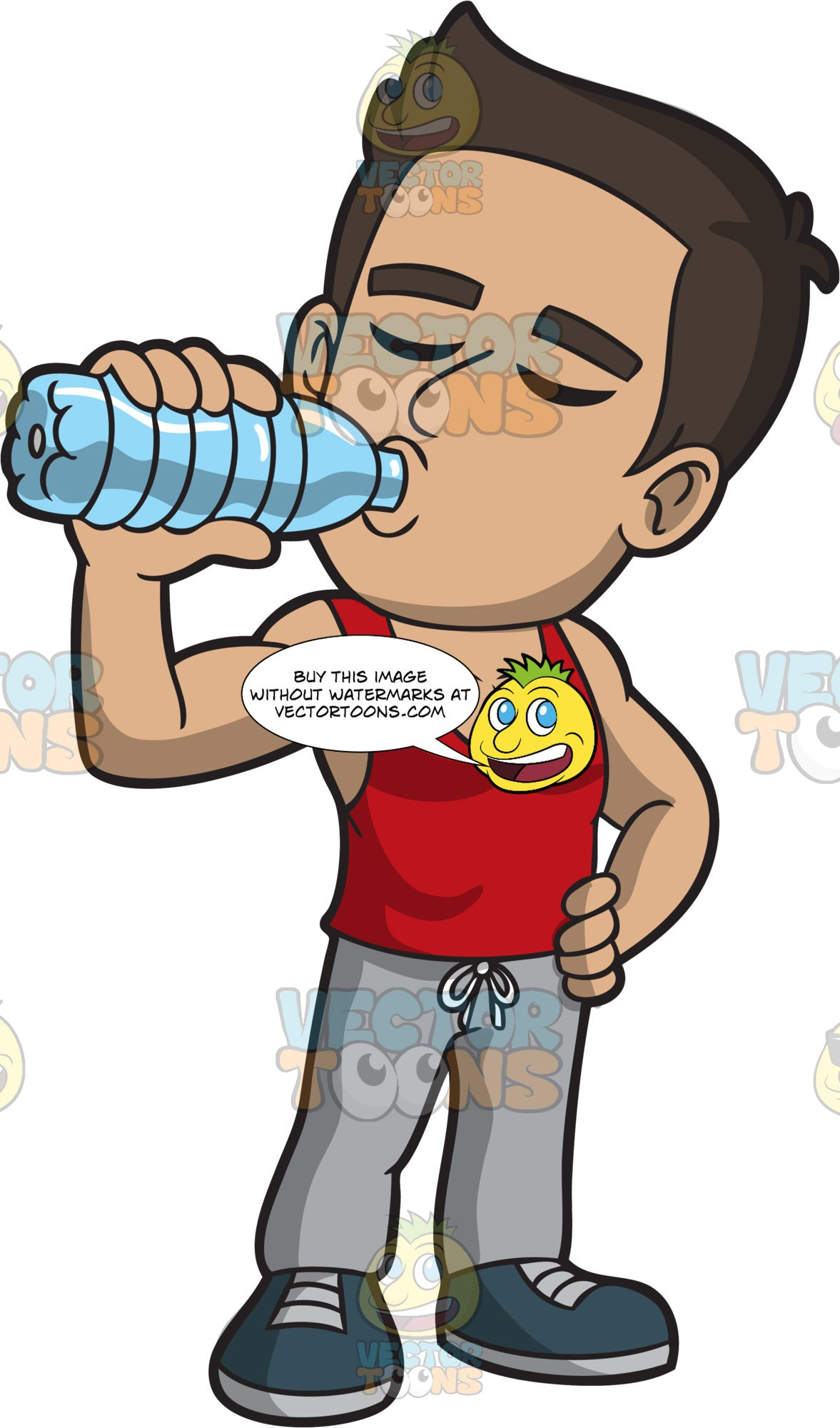 A Macho Man Drinking Water