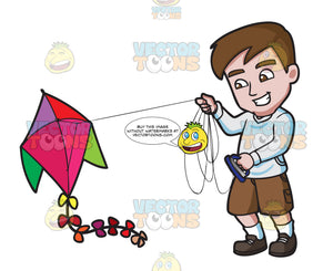 A Man Getting Excited To Fly His Kite