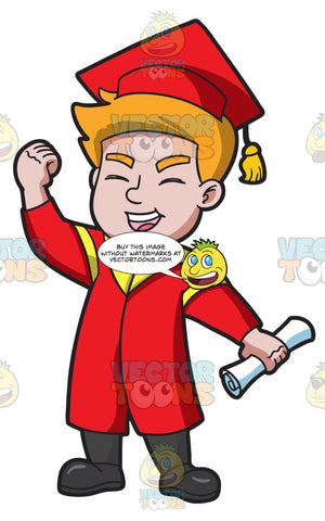 A Young Man Receiving His New School Degree