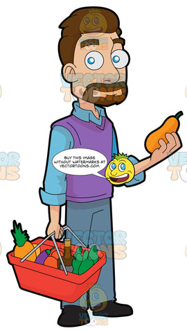 A Guy Shopping For Fruits And Vegetables