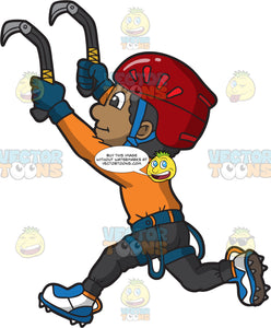 An Ice Climbing Black Guy