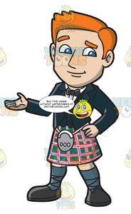 A Warm And Friendly Man In Formal Kilt