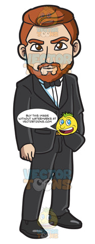 A Man With Beard In A Tux