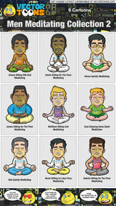 Men Meditating Collection 2