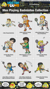 Men Playing Badminton Collection